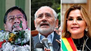 Luis Arce, Carlos Mesa y Jeanine Áñez se enfrentan por la Presidencia de Bolivia en unas elecciones atípicas planeadas para el 18 de octubre de 2020.