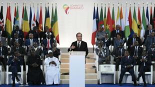 François Hollande au 27e Sommet Afrique France à Bamako.
