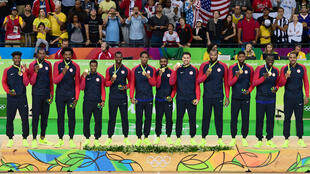 A USA  basketball team stocked with NBA talent collects the gold at the 2016 Rio Olympics. NBA Commissioner Adam Silver says it's not clear how the postponed Tokyo Games will mesh with a delayed 2021 NBA season