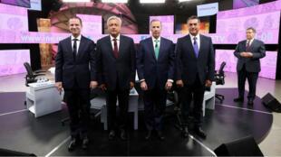 Los cuatro candidatos a la Presidencia de México durante el segundo debate presidencial, el 12 de junio de 2018.