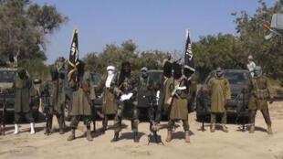 Capture d'écran de la vidéo obtenue par l'AFP le 31 octobre, montrant un homme présenté comme Abubakar Shekau, chef de Boko Haram.