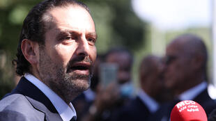 "Former Lebanese prime minister Saad Hariri, pictured August 2020, said he ""will not close the door on the only hope left for Lebanon to stem this collapse"""