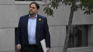 L'ancien vice-président du gouvernement catalan, Oriol Junqueiras, le 2 novembre 2017 à Madrid.