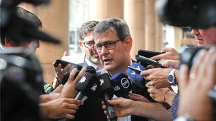 El fiscal general de Uruguay, Jorge Díaz, anunció que la Fiscalía ya designó a un funcionario de turno para investigar la posible omisión de una confesión de delito al Tribunal de Honor del Ejército, realizada por el exmilitar acusado de crímenes en dictadura José Gavazzo, en Montevideo, Uruguay, el 1 de abril de 2019.