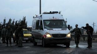 سيارة إسعاف في دمشق