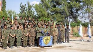 """مجلس منبج العسكري، المنضوي كما الوحدات الكردية في """"قوات سوريا الديموقراطية"""" - 6 يونيو 2018"""