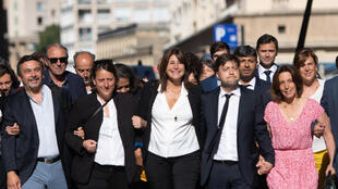 Michèle Rubirola, head of the green-left coalition Printemps Marseillais, arrives at Marseille city hall on July 4, 2020.