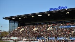 L'Allianz Park, le stade des Saracens, ici lors d'un match de Coupe d'Europe le 19 janvier 2020, devra patienter pour accueillir ses champions