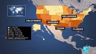 2020-07-16 11:09 Covid-19 aux États-Unis : 67.000 nouvelles contaminations en 24h