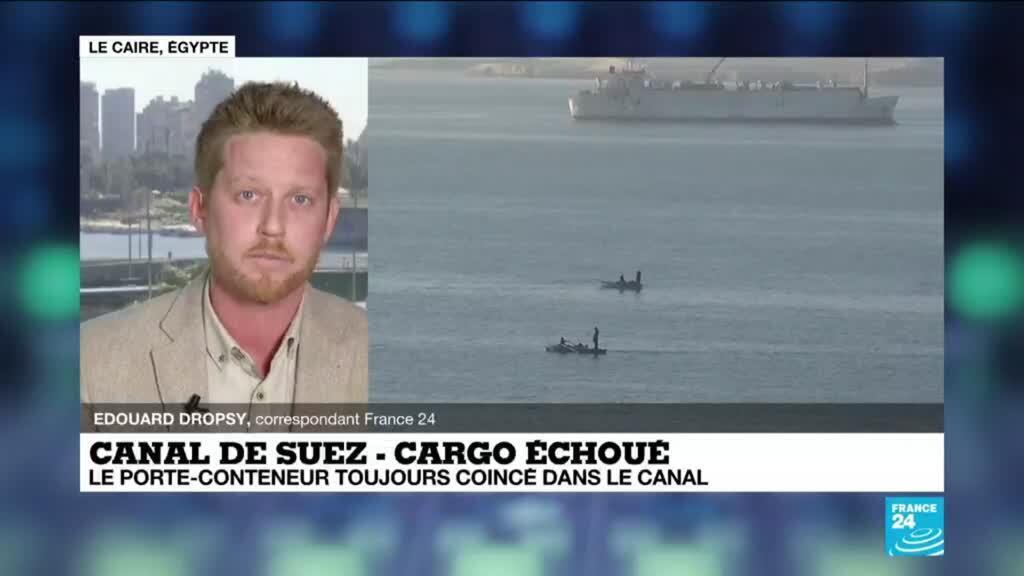 2021-03-25 12:09 Le canal de Suez obstrué, transport maritime mondial ralenti
