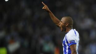 Yacine Brahimi célèbre son triplé avec Porto en Ligue des champions, mercredi 17 septembre.