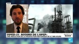 2020-04-13 10:08 L'Opep et ses partenaires conviennent d'une baisse de la production de pétrole