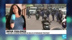 2020-02-25 08:31 India: 7 killed, dozens injured in Delhi citizenship protest