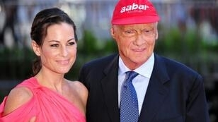 Niki Lauda and his wife Birgit attend the world premiere of Rush in central London in 2013