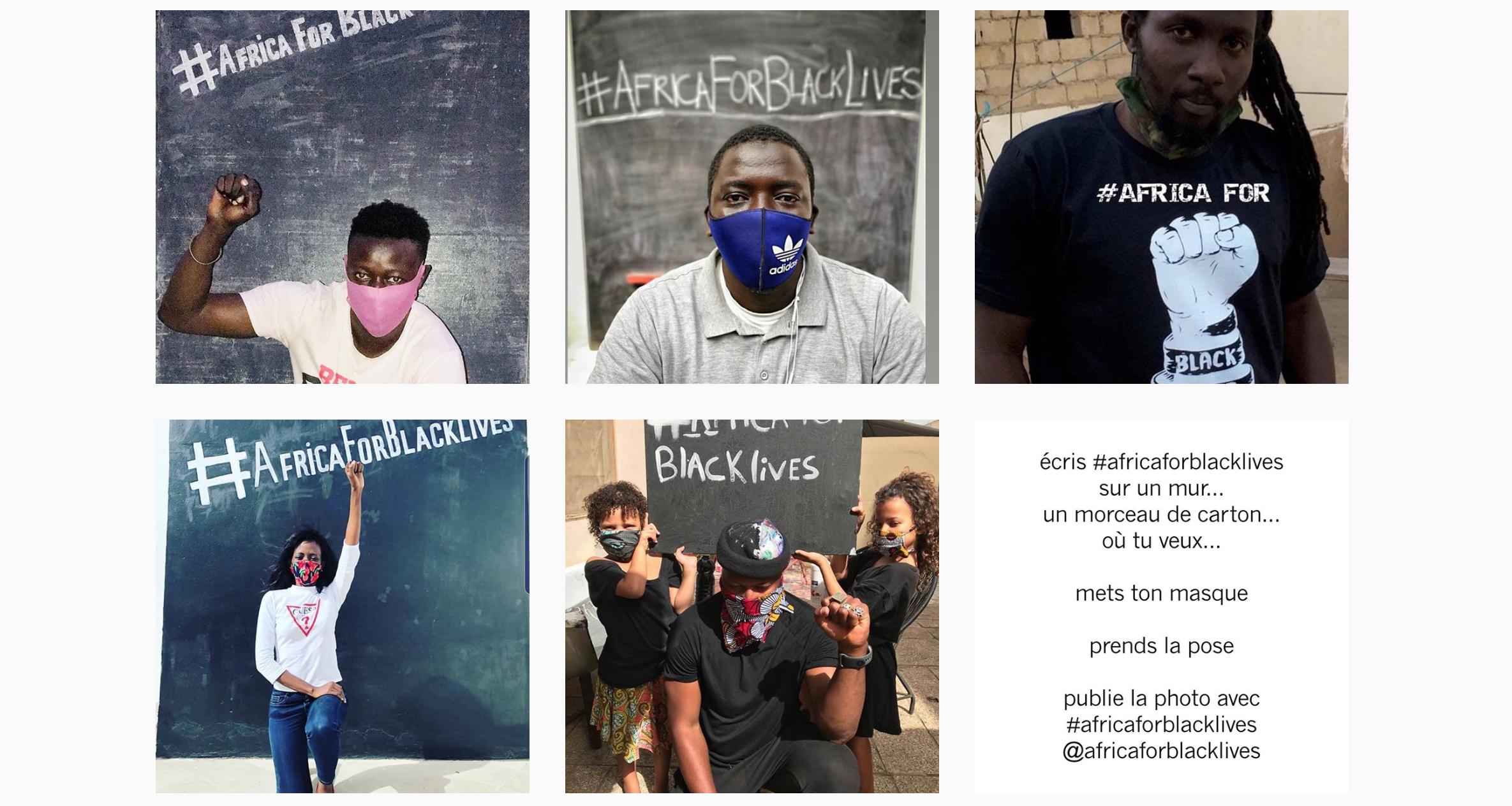 Africa for Black Lives Instagram