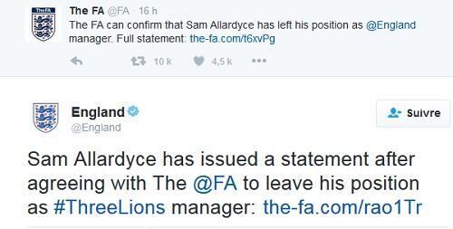 تغريدة الاتحاد الانكليزي لكرة القدم عن فسخ عقد المدرب سان ألارديس