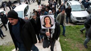 Des soutiens kurdes à la députée Leyla Güven, 12 janvier 2019.