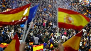 Imagen de un acto de campaña del Partido Popular, en Madrid, España, el 26 de abril de 2019