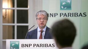 Le PDG de la banque BNP Paribas, Jean-Laurent Bonnafé, lors de la présentation des résultats trimestriels