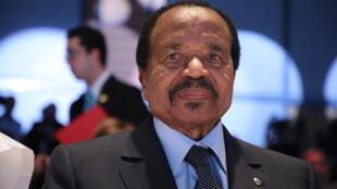 Le président du Cameroun Paul Biya, le 10 octobre 2019, à Lyon.