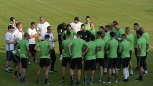 المنتخب الجزائري أثناء التدريبات