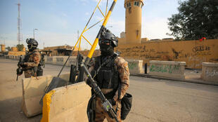 An Iraqi security source said the US embassy appeared to be the intended target of the rocket attack