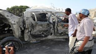 السيارة المفخخة التي انفجرت بالقرب من البرلمان الصومالي في 15 يونيو/حزيران 2019.