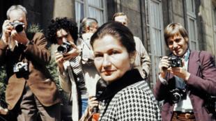 Simone Veil en juin 1974 à l'Élysée.