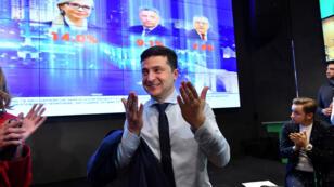 Un bureau de vote à Kiev en Ukraine, le 31mars2019.