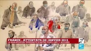 2020-12-16 17:01 Attentats de janvier 2015 : la cour écarte la qualification terroriste pour 6 des 11 accusés
