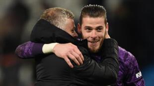 Manchester United manager Ole Gunnar Solskjaer has defended under-fire goalkeeper David de Gea (right)
