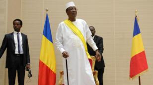 Le président tchadien Idriss Déby lors de l'investiture de son cinquième mandat à N'Djamena, le 8 août 2016.