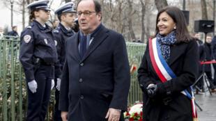 L'ancien président François Hollande, le 7 janvier 2020, lors des commémorations de l'attentat contre Charlie Hebdo, à Paris.