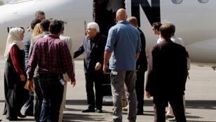 المبعوث الأممي مارتن غريفيث لدى وصوله إلى العاصمة اليمنية صنعاء 21 تشرين الثاني/نوفمبر 2018