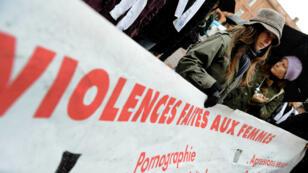 Une manifestation contre les violences faites aux femmes en novembre 2008, à Toulouse.