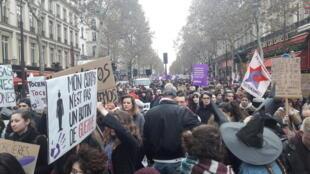 Le cortège parisien contre les violences sexistes et sexuelles, samedi 24 novembre 2018.