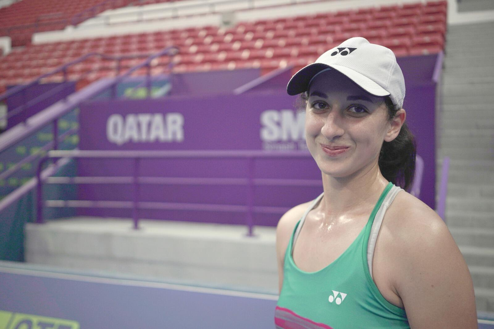 Algerian tennis player inès Ibbou at the Qatar Open in February 2019.