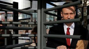El líder de la oposición rusa, Alexei Navalny, deja el tribunal europeo de Derechos Humanos después de una audiencia sobre su caso contra el gobierno ruso en la corte de Estrasburgo, Francia, el 24 de enero de 2018 (Imagen de archivo).