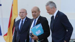 Les ministres français Gérard Collomb, Jean-Yves Le Drian et Bruno Le Maire accusent l'Iran dans un communiqué.