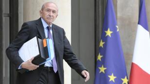 Le ministre de l'Intérieur Gérard Collomb sortant de l'Elysée, le 2 août 2017.