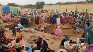 At a school in Geneina, in the west of Darfur, where around 40,000 people took refuge after the massacres.