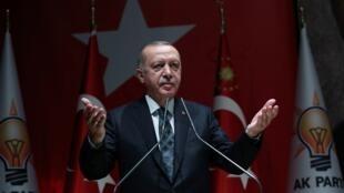 الرئيس التركي رجب طيب أردوغان. 10 أكتوبر/تشرين الأول 2019.