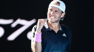 Lucas Pouille a battu le Canadien Milos Raonic en quatre sets le 23 janvier à Melbourne.