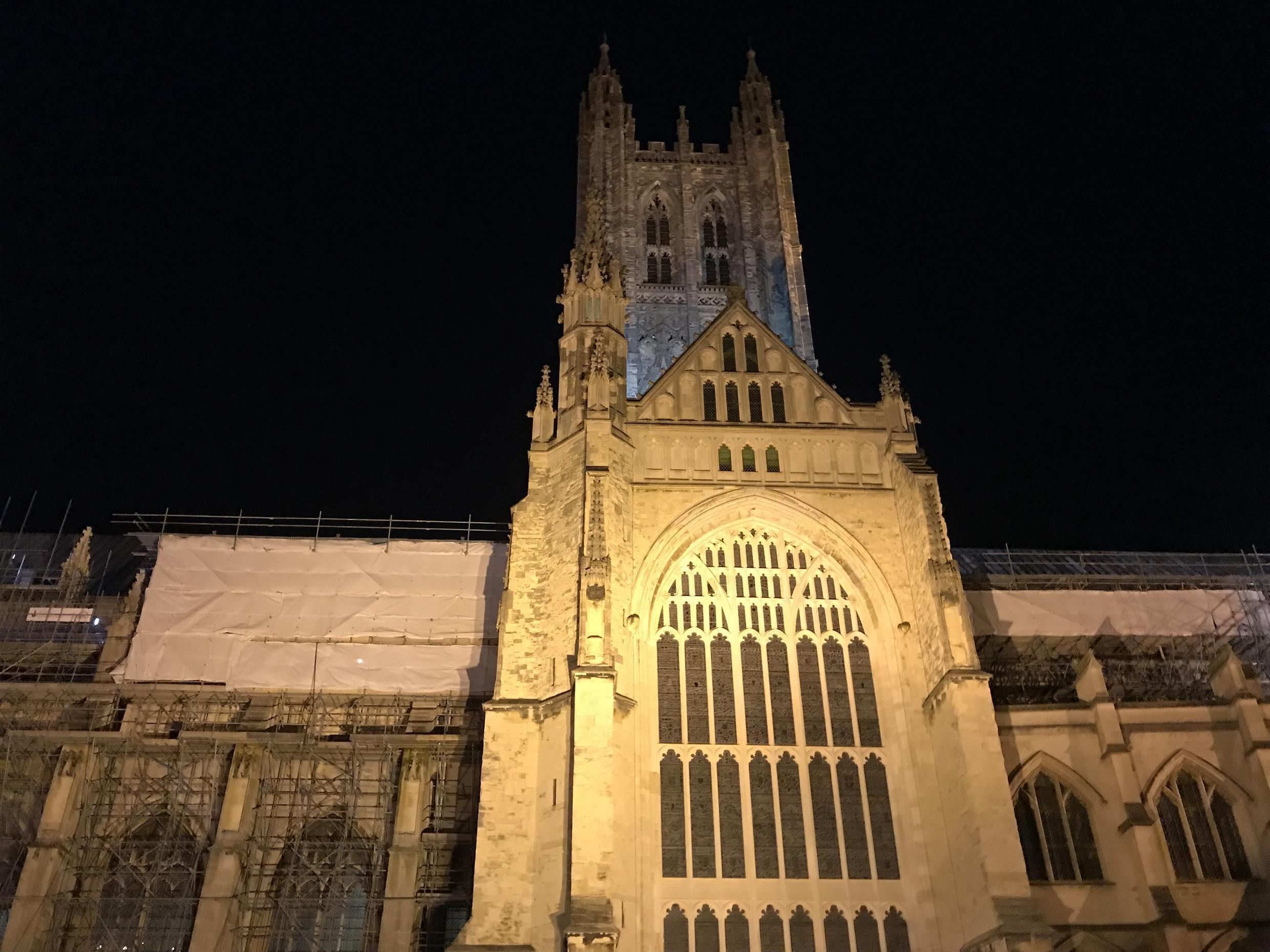 The majestic Canterbury Cathedral is the seat of the Anglican Church.