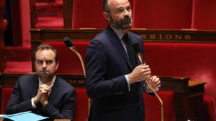 Le premier ministre, Édouard Philippe, à l'Assemblée nationale, le 14 avril 2020.