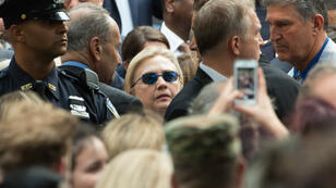 JUSTIN SULLIVAN / GETTY IMAGES NORTH AMERICA / AFP | Democratic presidental nominee Hillary Clinton attends the September 11 Commemoration Ceremony at the National September 11 Memorial & Museum on September 11, 2016 in New York City.