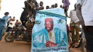 أنصار للمشرح للرئاسة في النيجر ماهاماني عثمان في 19 شباط/فبراير 2021 في نيامي
