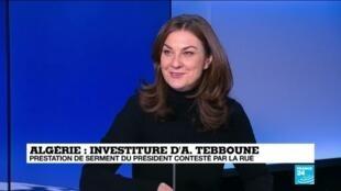 Armelle Charrier, chroniqueuse internationale  à France 24, le 19 décembre 2019.