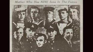 Le soldat John O'Leary est le 3e en haut en partant de la gauche.