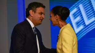 Aecio Neves and Marina Silva